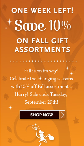 One Week Left - Save 10% On Fall Gift Assortments