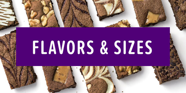 Flavors and sizes