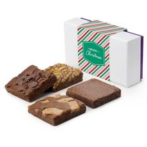 Christmas 4-Brownie Favor