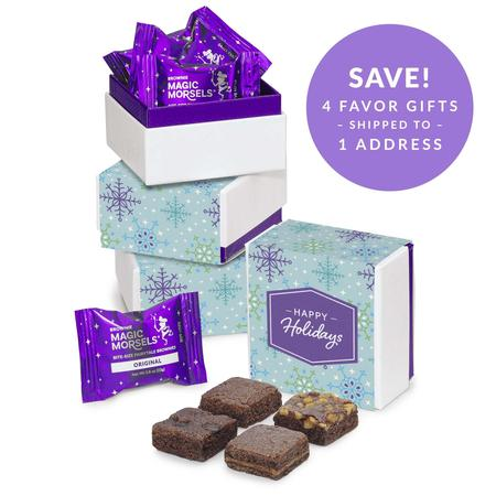 SET OF FOUR Holiday 4-Morsel Favor