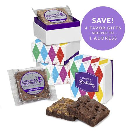 SET OF FOUR Birthday 2-Brownie Favor