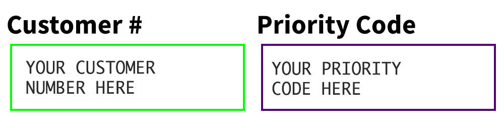 Priority / Coupon Code Example