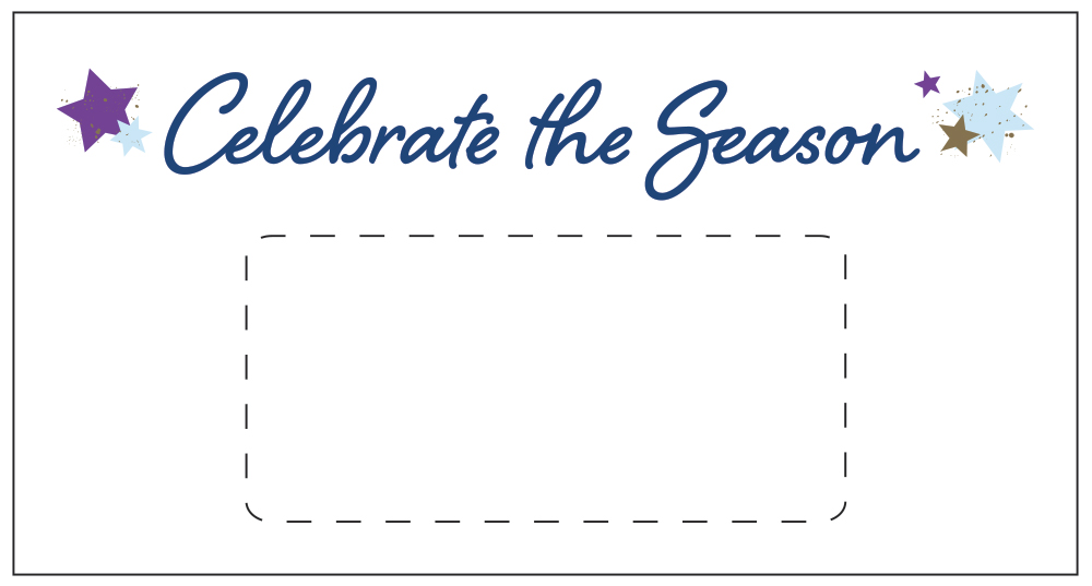 Custom Celebrate the Season Favor